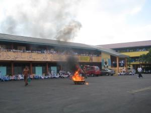 latihan kebakaran 1